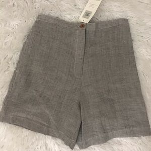 Eileen fisher Rayon Linen Houndstooth Shorts NWT